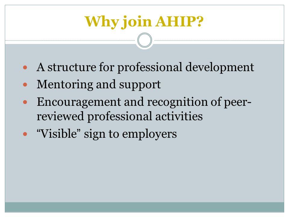 Why join AHIP.
