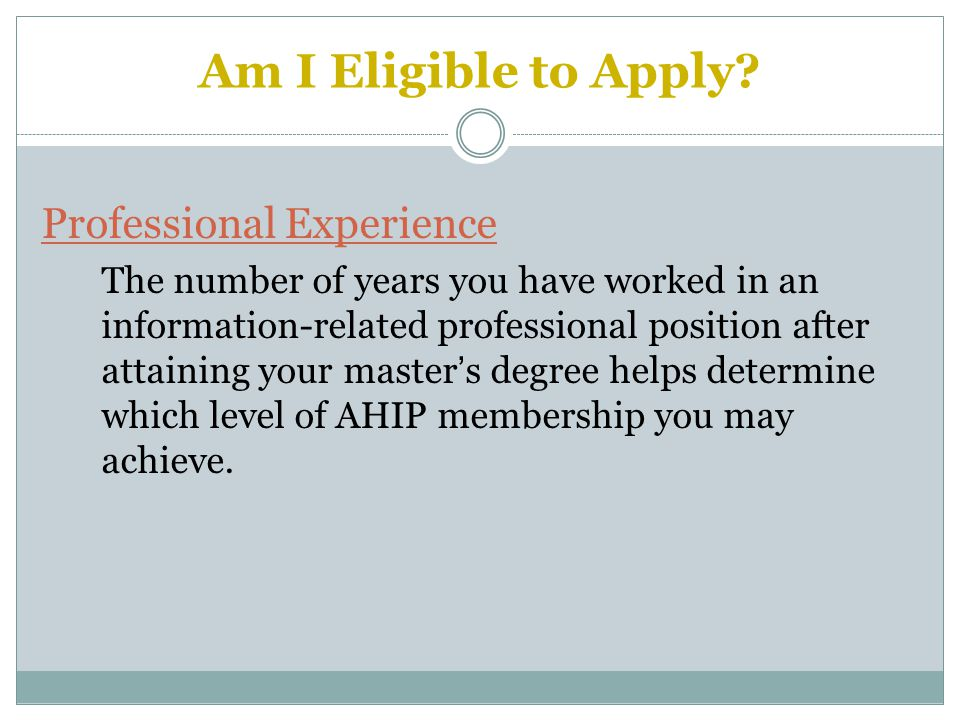 Am I Eligible to Apply.