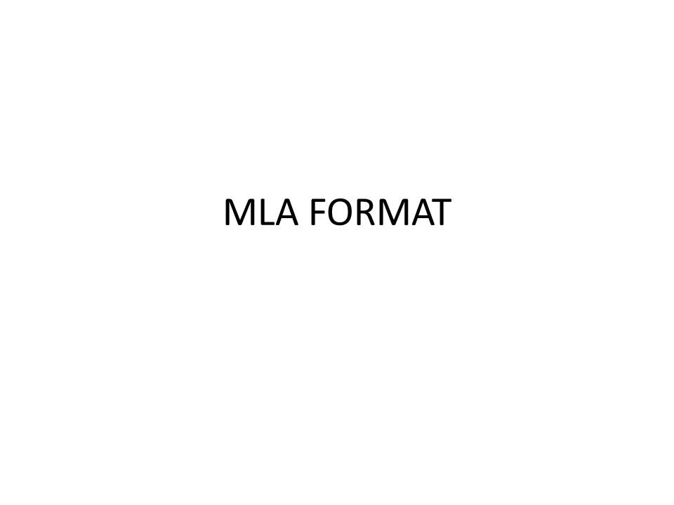 What is the meaning of MLA formatting style?