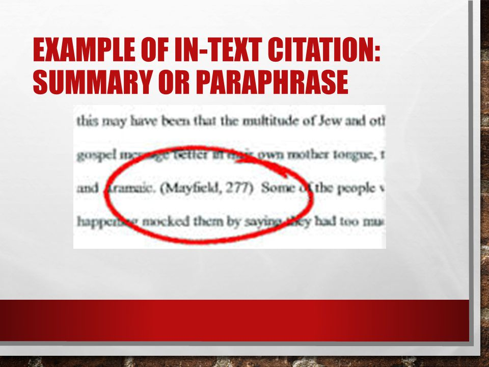 WHEN TO USE IN-TEXT CITATIONS.
