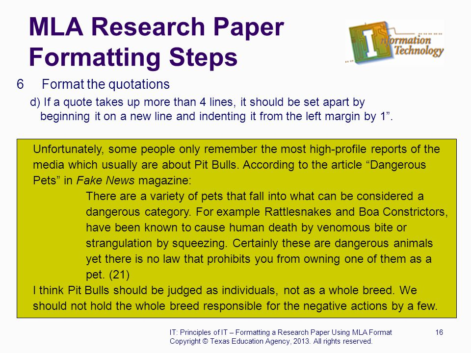 long quote in research paper While you want to set up the arguments that have been made on long quote research paper sides in the past, you also want to make a compelling argument for yourself.