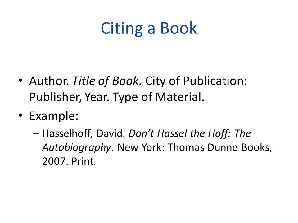 Citing a Magazine Article Author. Title of Article. Title of Magazine Date: Page(s).