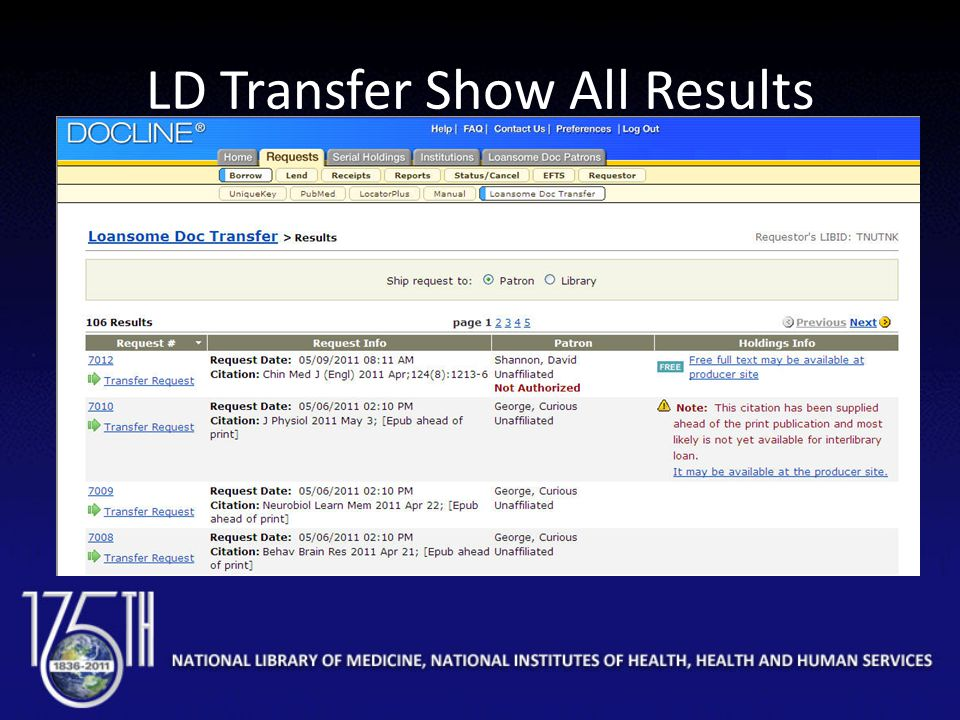 LD Transfer Show All Results