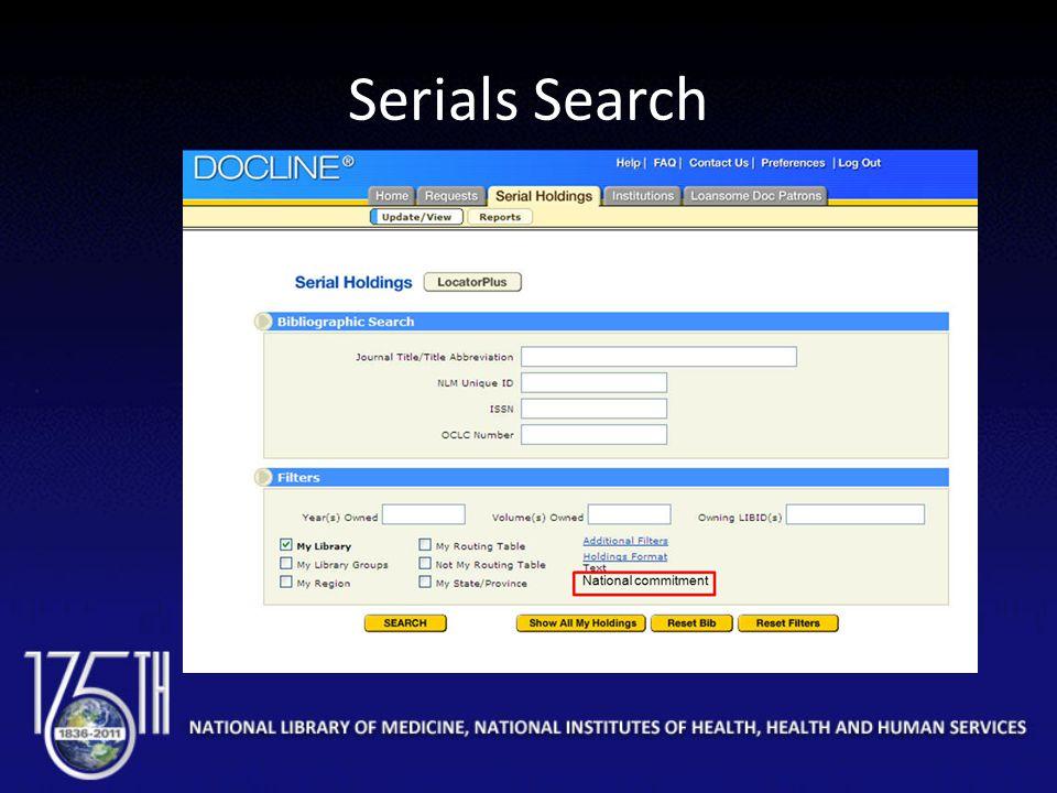 Serials Search