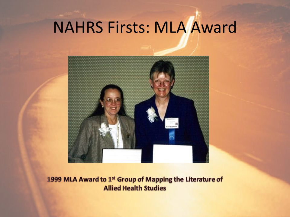 NAHRS Firsts: Newsletter