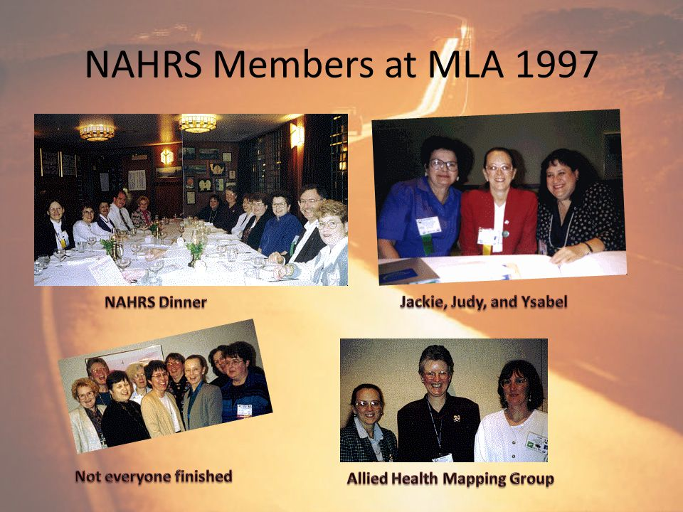 NAHRS 35 th Anniversary 1997