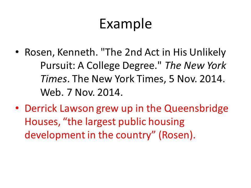 Example Rosen, Kenneth.