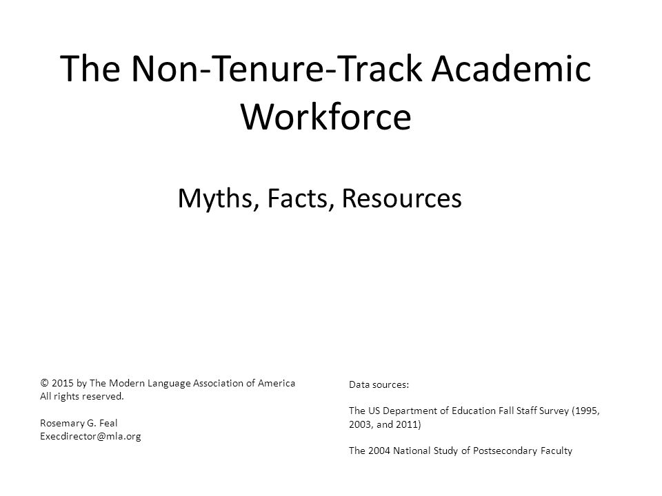 Years Non-Tenure-Track Faculty Members Have Held their Current Job, by Discipline 12