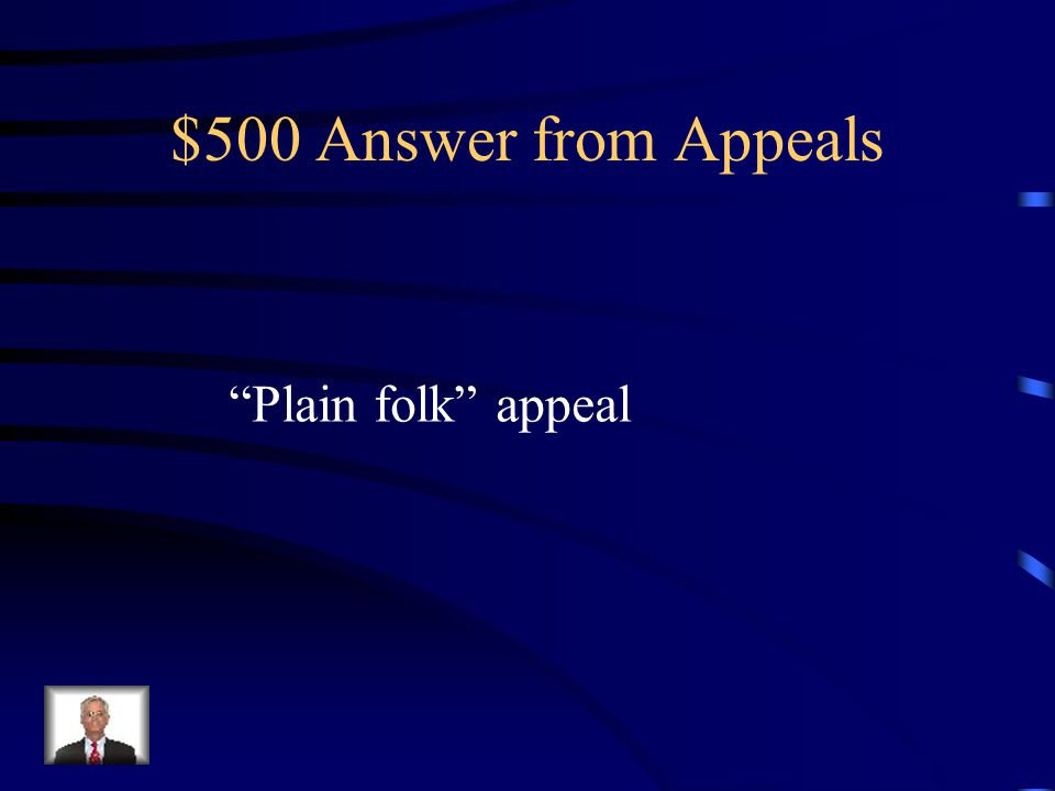 $500 Question from Appeals What appeal is being used here.