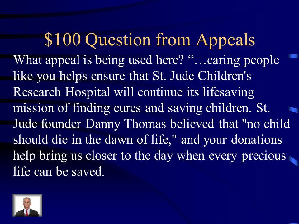 Jeopardy AppealsVocabulary MLA Fact/Opinion Analyze Q $100 Q $200 Q $300 Q $400 Q $500 Q $100 Q $200 Q $300 Q $400 Q $500 Final Jeopardy