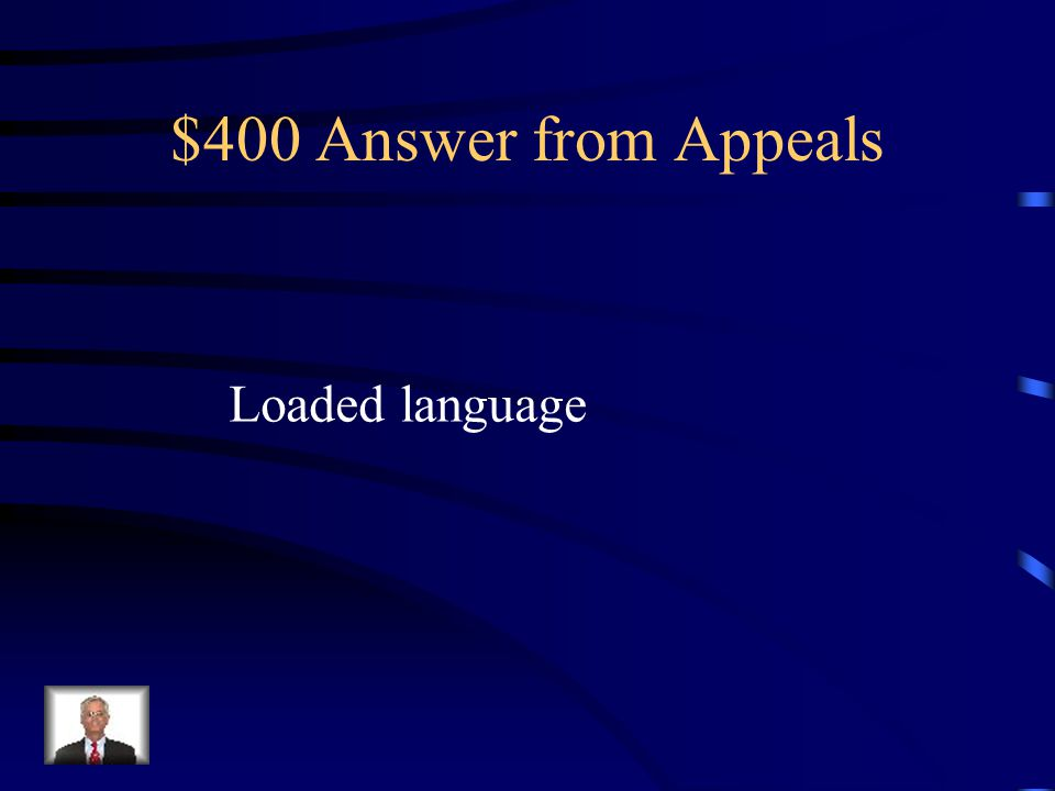 $400 Question from Appeals What appeal is being used here.