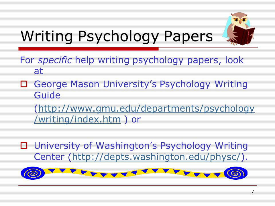 18 More help with sections of the paper  In addition to the sources already mentioned, the TCTC Writing Center has prepared a handout giving a brief description of each of the sections of a paper in APA style.