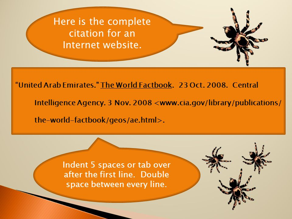 Here is the complete citation for an Internet website.