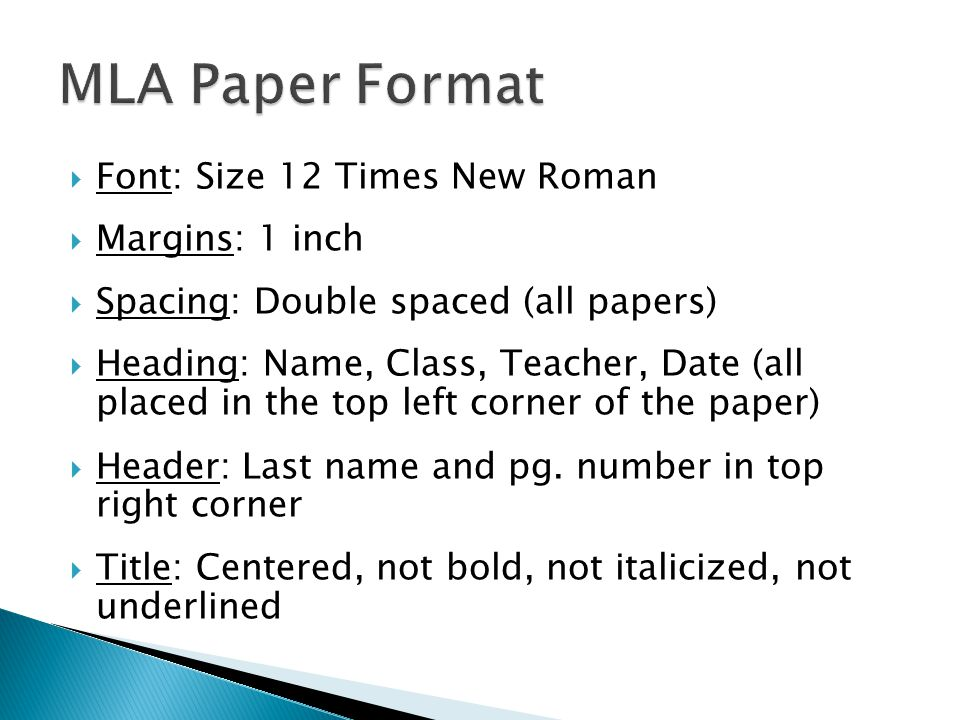 Formatting a Research Paper     The MLA Style Center Mrs  Nayla   WordPress com