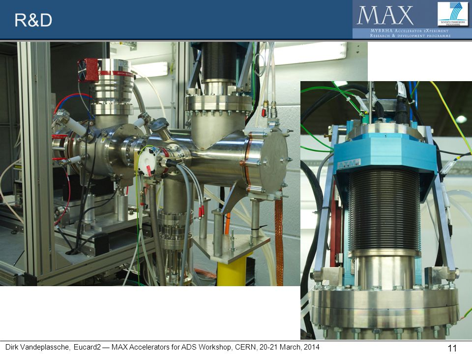 R&D Dirk Vandeplassche, Eucard2 — MAX Accelerators for ADS Workshop, CERN, 20-21 March, 2014 11