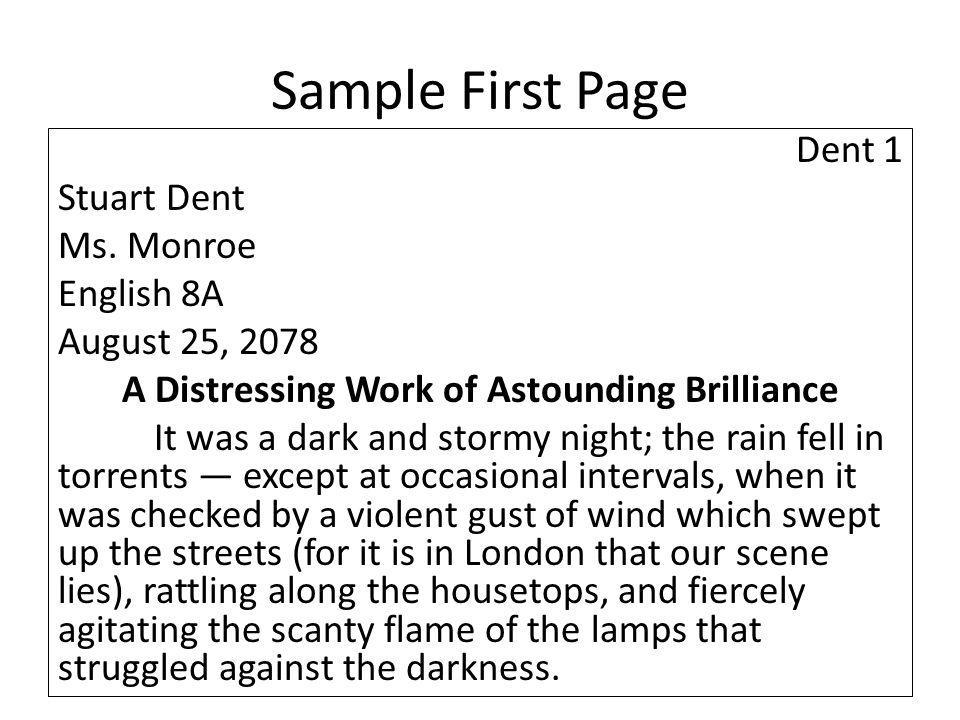 Sample First Page Dent 1 Stuart Dent Ms.