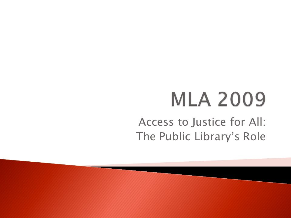 Access to Justice for All: The Public Library's Role