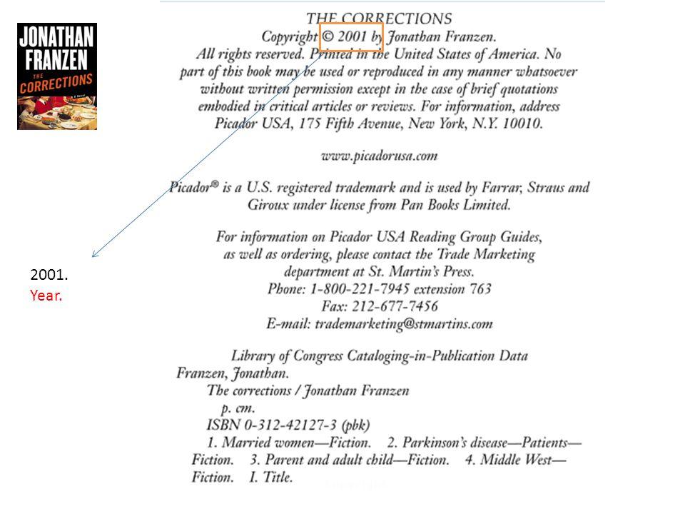 Franzen, Jonathan. The Corrections. New York: Picador, 2001. Print.