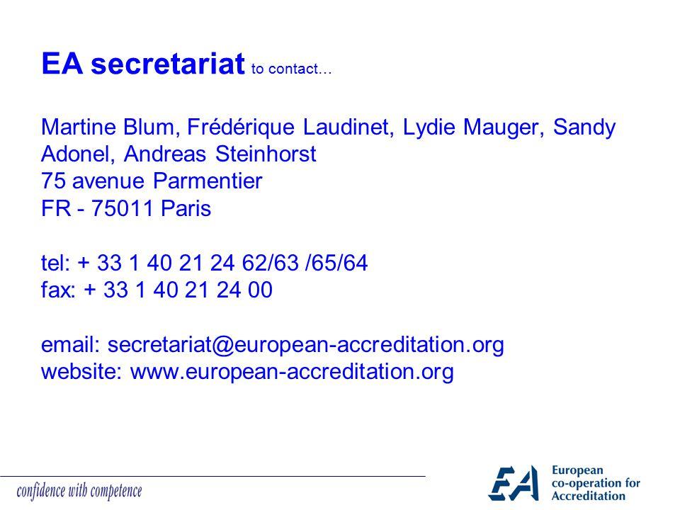 Martine Blum, Frédérique Laudinet, Lydie Mauger, Sandy Adonel, Andreas Steinhorst 75 avenue Parmentier FR - 75011 Paris tel: + 33 1 40 21 24 62/63 /65