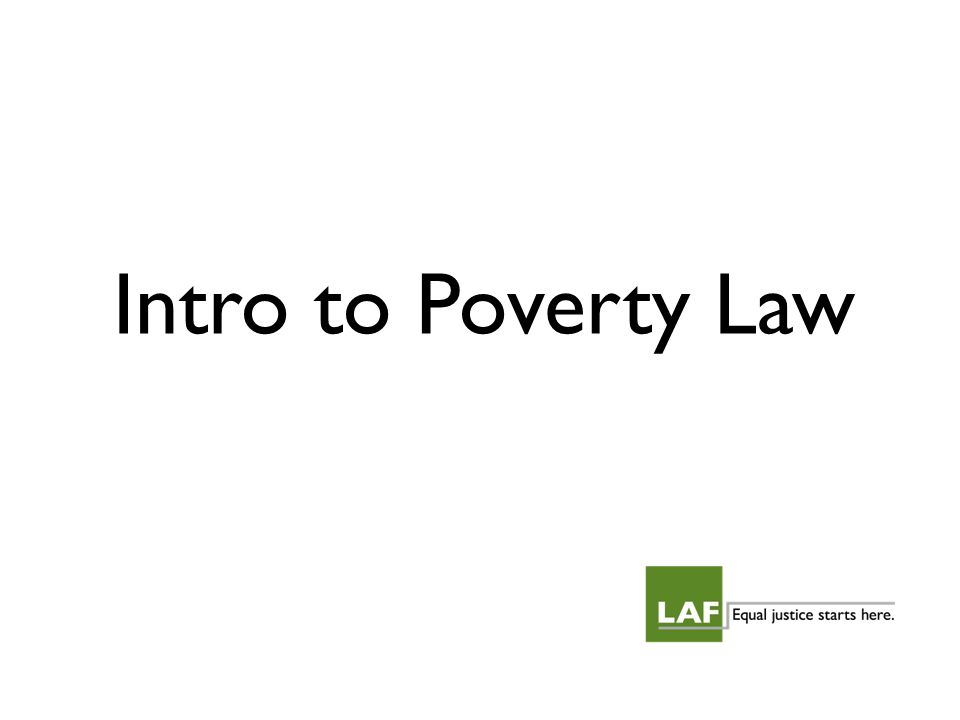 Intro to Poverty Law