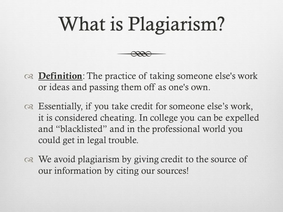 What is Plagiarism What is Plagiarism.