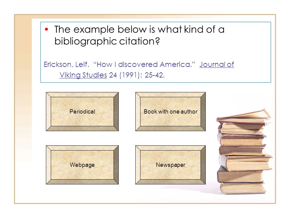The example below is what kind of a bibliographic citation.