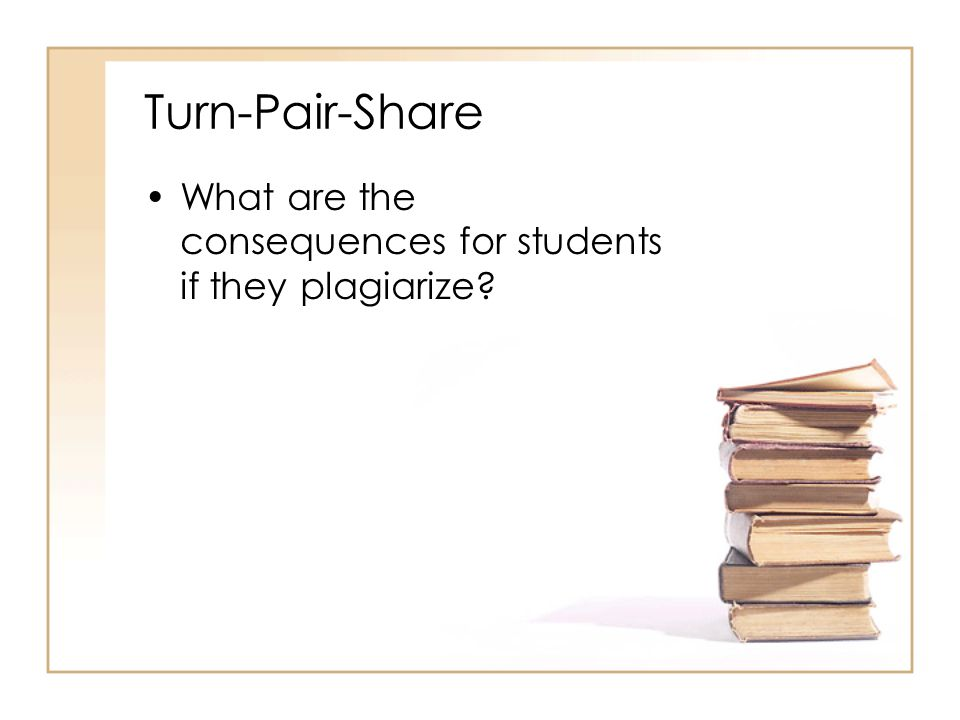 Turn-Pair-Share What are the consequences for students if they plagiarize