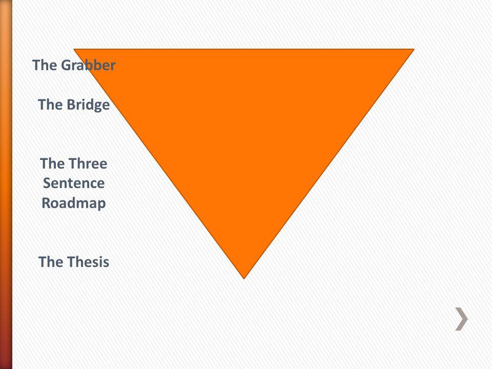 The Grabber The Bridge The Three Sentence Roadmap The Thesis