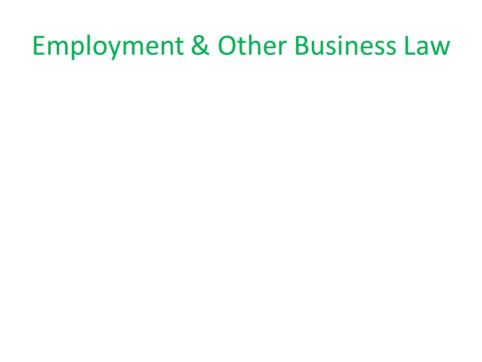 Employment & Other Business Law