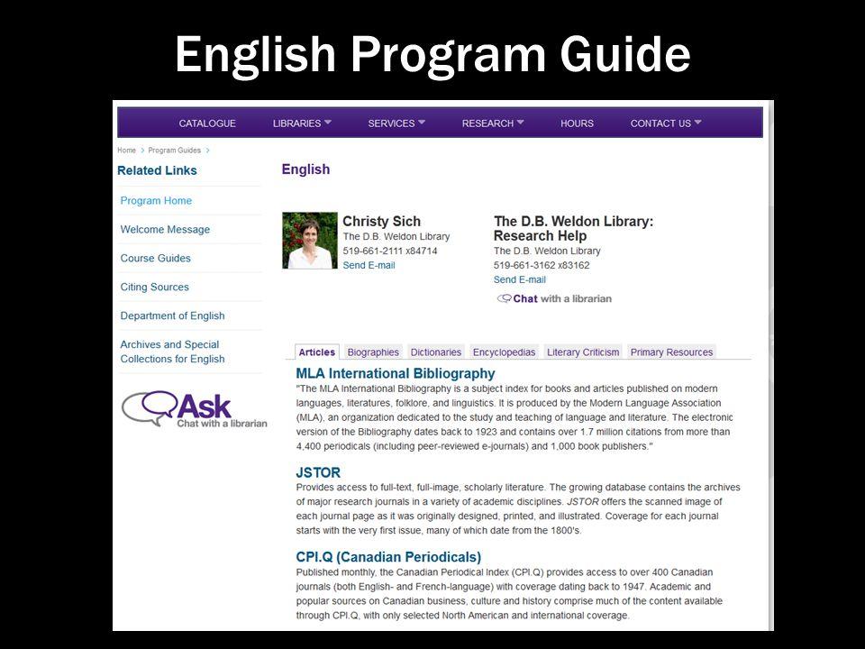 English Program Guide