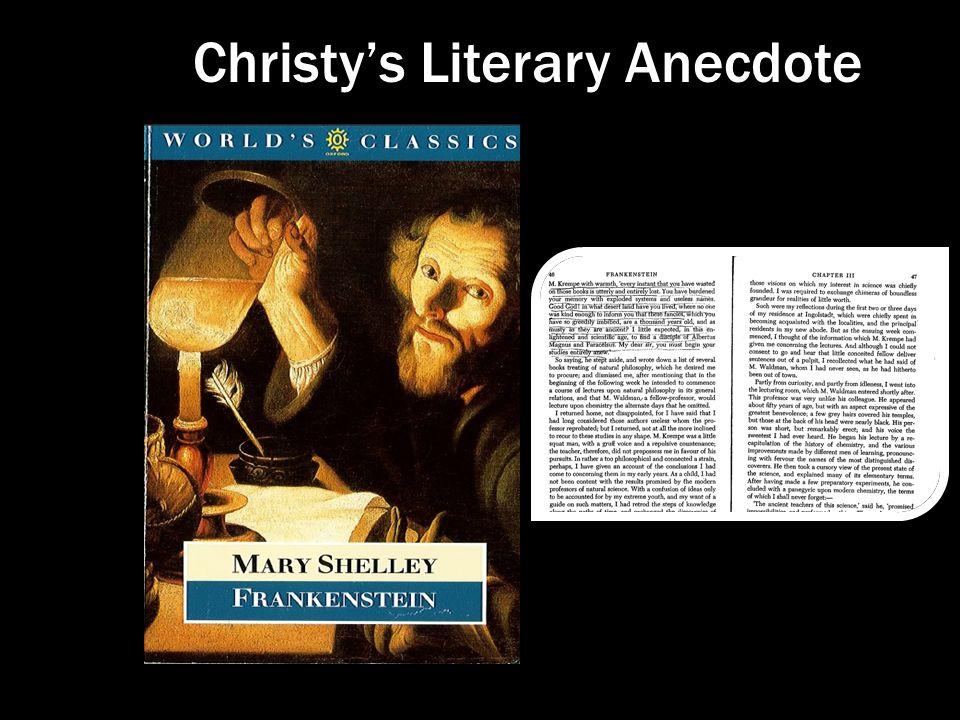 Christy's Literary Anecdote