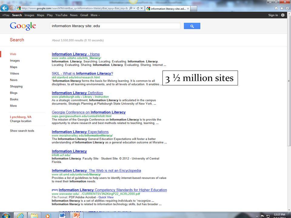 3 ½ million sites