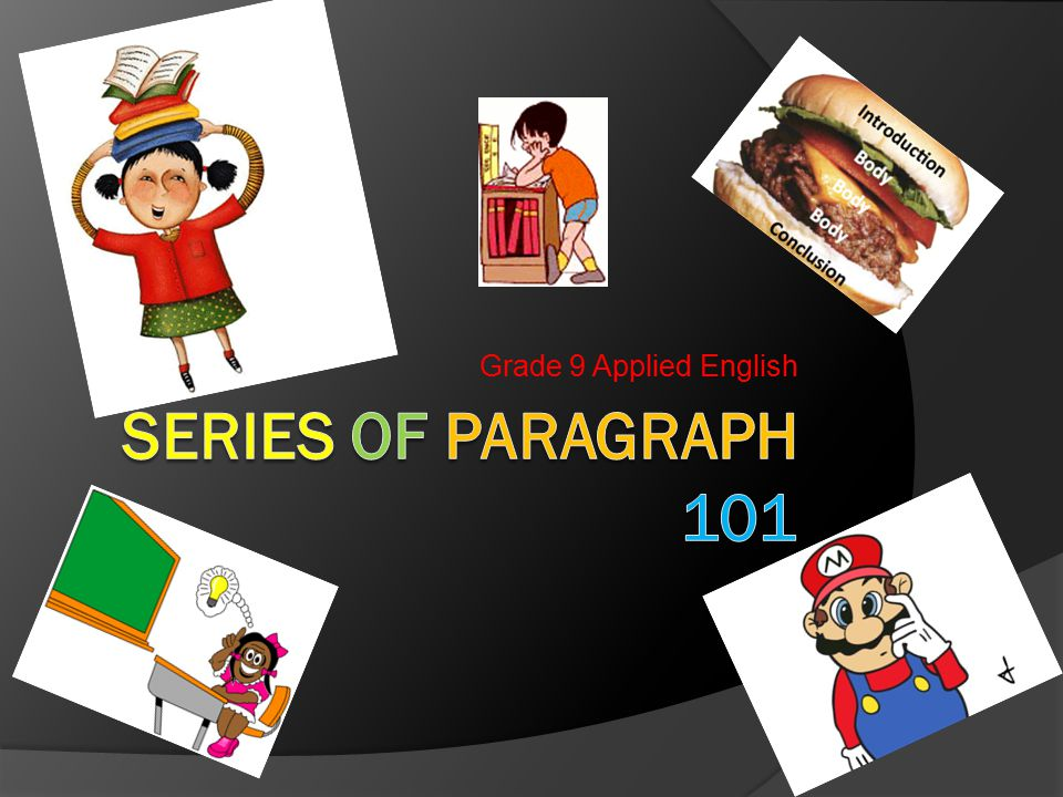 What is a Series of Paragraphs.