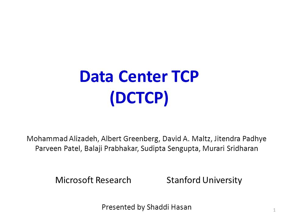 Analysis How low can DCTCP maintain queues without loss of throughput.
