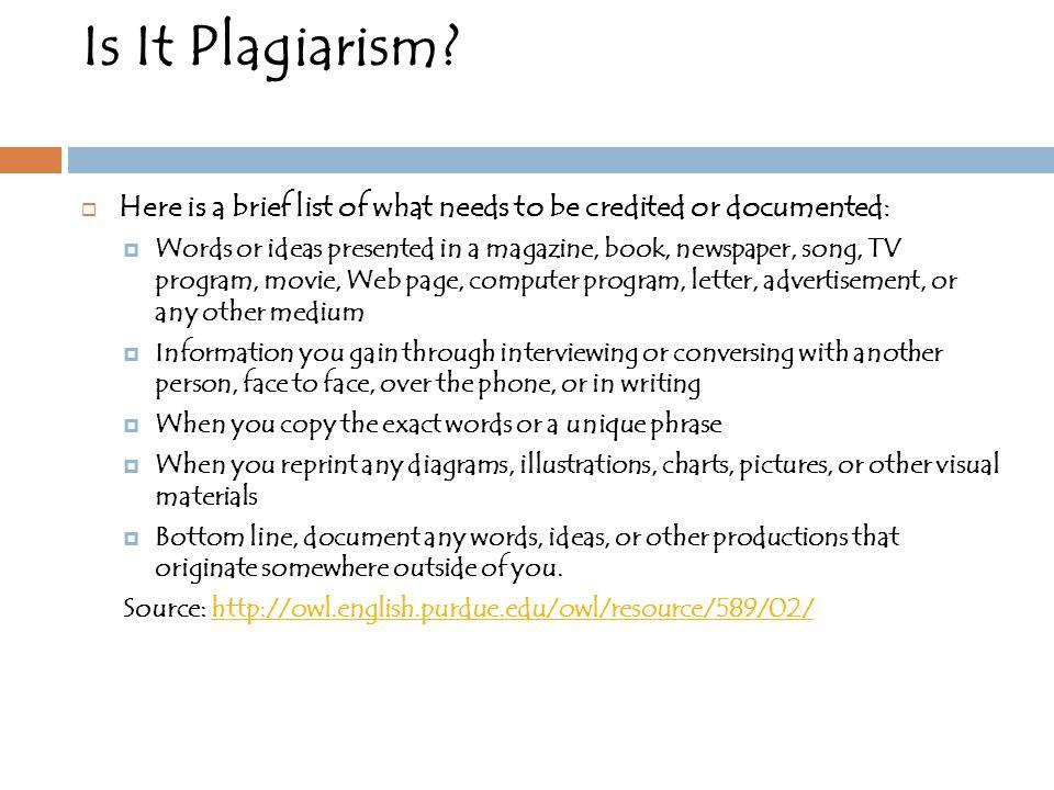 Is It Plagiarism.