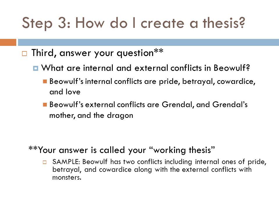Step 3: How do I create a thesis.