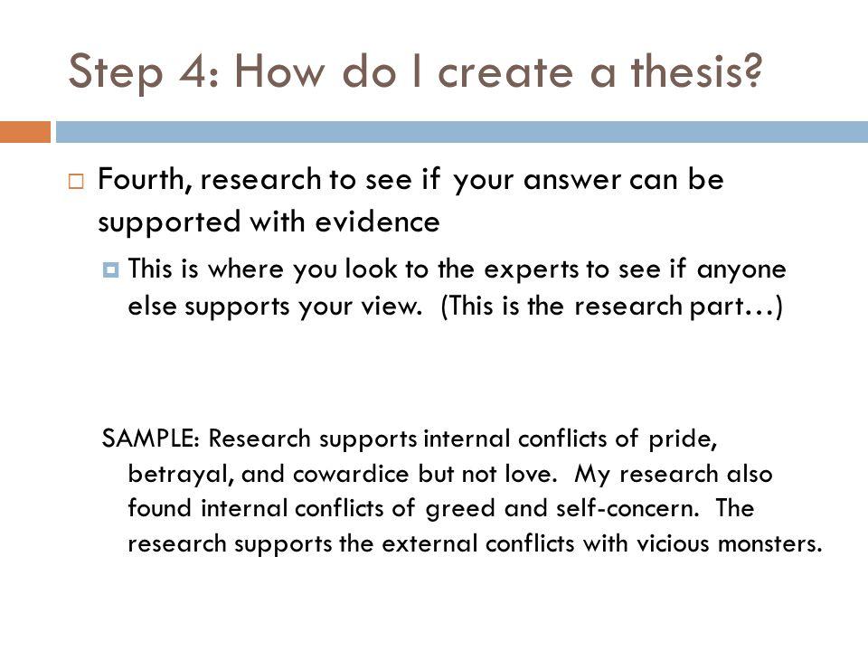 Step 4: How do I create a thesis.