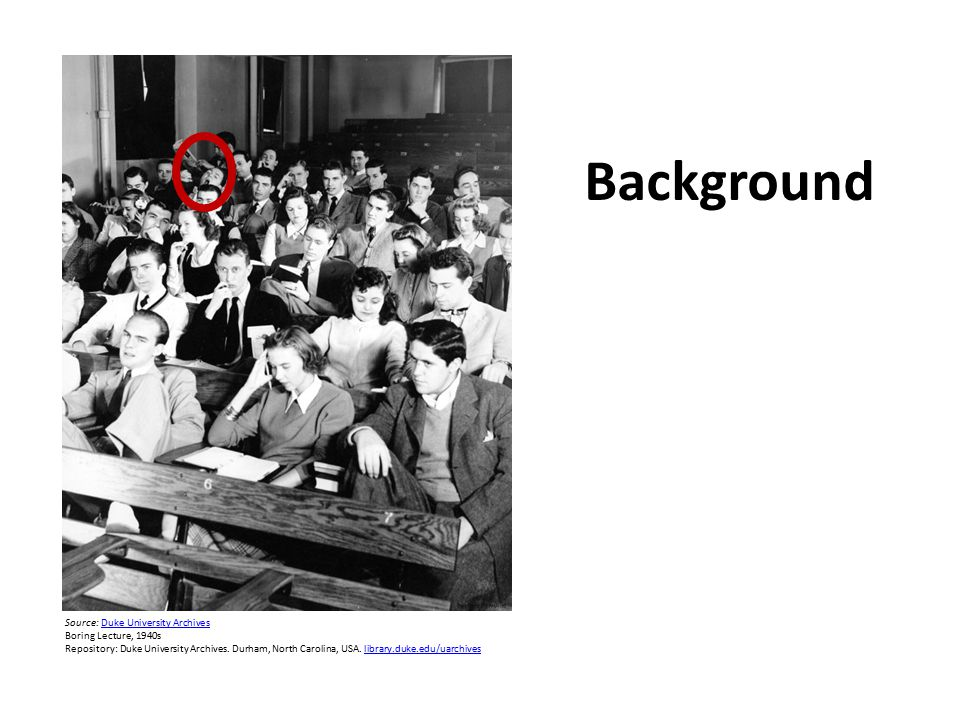 Source: Duke University ArchivesDuke University Archives Boring Lecture, 1940s Repository: Duke University Archives.