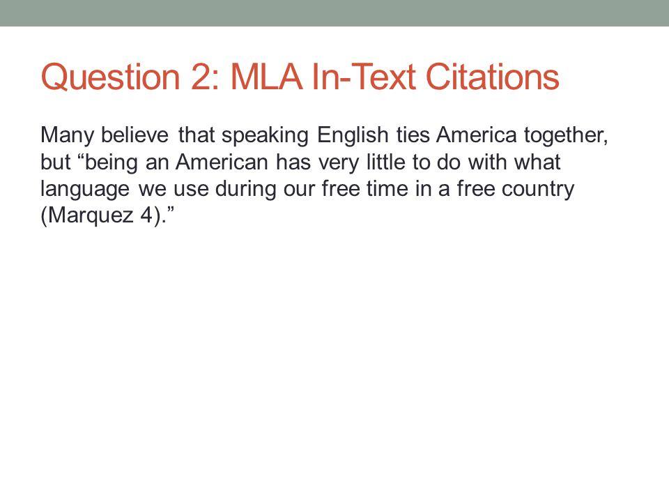Page 2: MLA Works Cited Myriam Marquez.