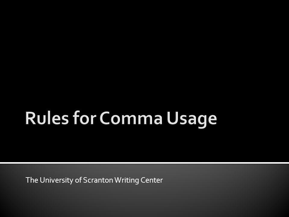 The University of Scranton Writing Center