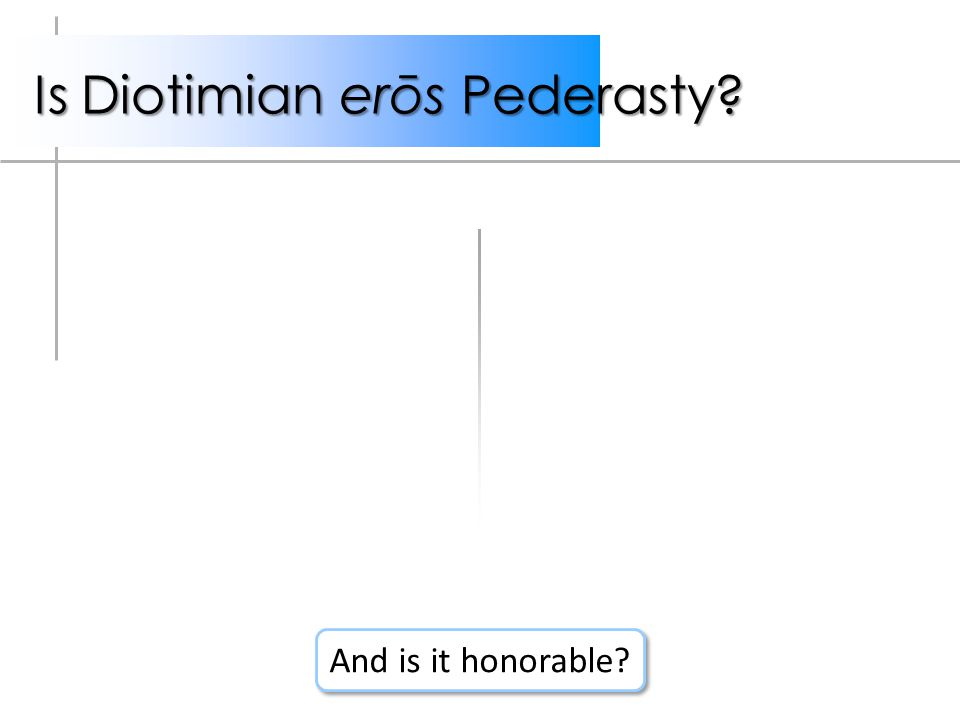 Is Diotimian erōs Pederasty And is it honorable