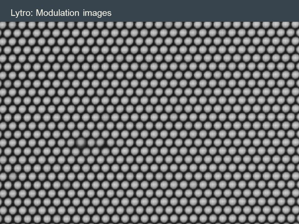 Lytro: Modulation images