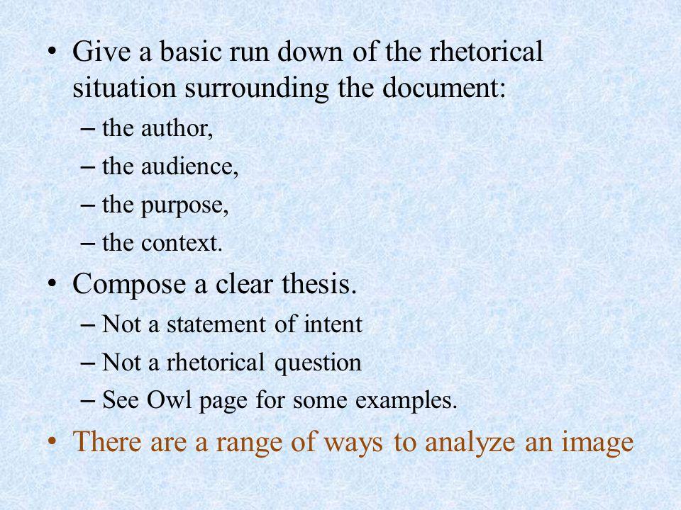 Analysis Order (Body Paragraphs) 1.