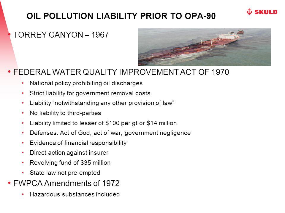 SELENDANG AYU 336,000 gallons fuel and diesel oil $136 million response costs OPA-90 limit $24 million Unalaska Island, Alaska 2004