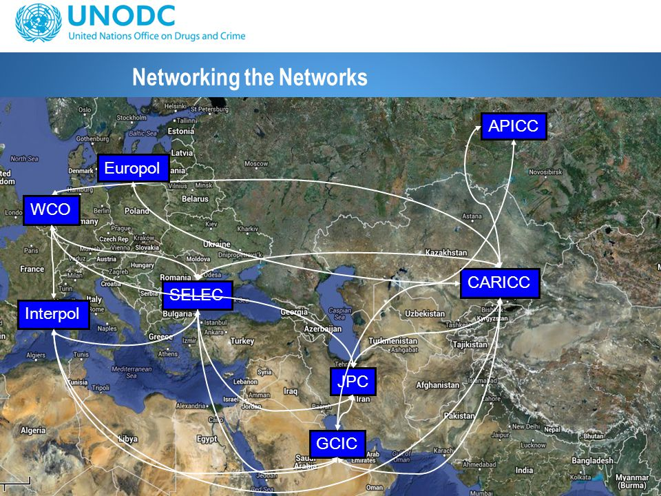 11 Networking the Networks CARICC GCIC JPC SELEC Interpol WCO APICC Europol