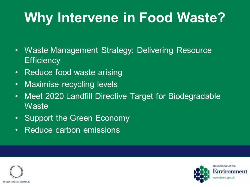 Why Intervene in Food Waste.