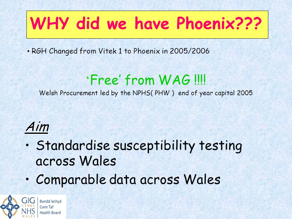 WHY did we have Phoenix??.' Free' from WAG !!!.