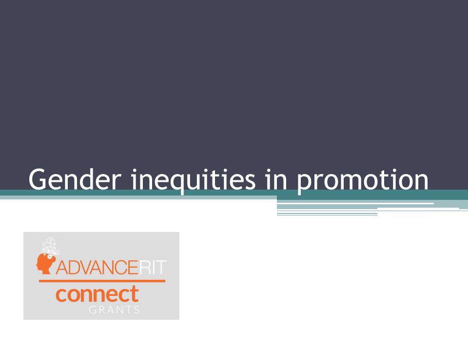 Gender inequities in promotion