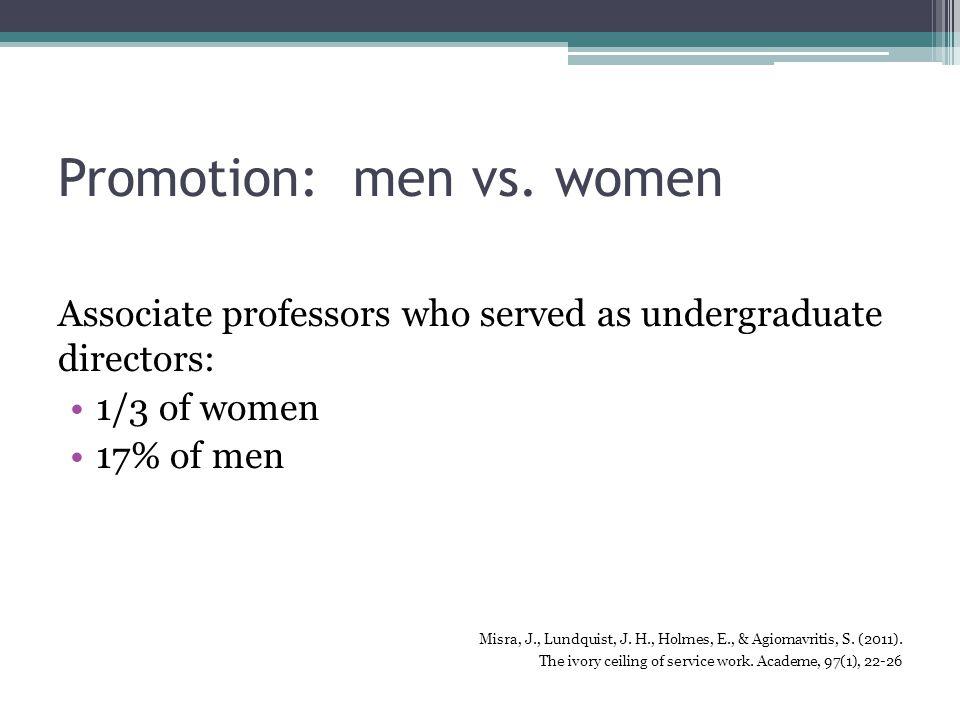 Promotion: men vs.