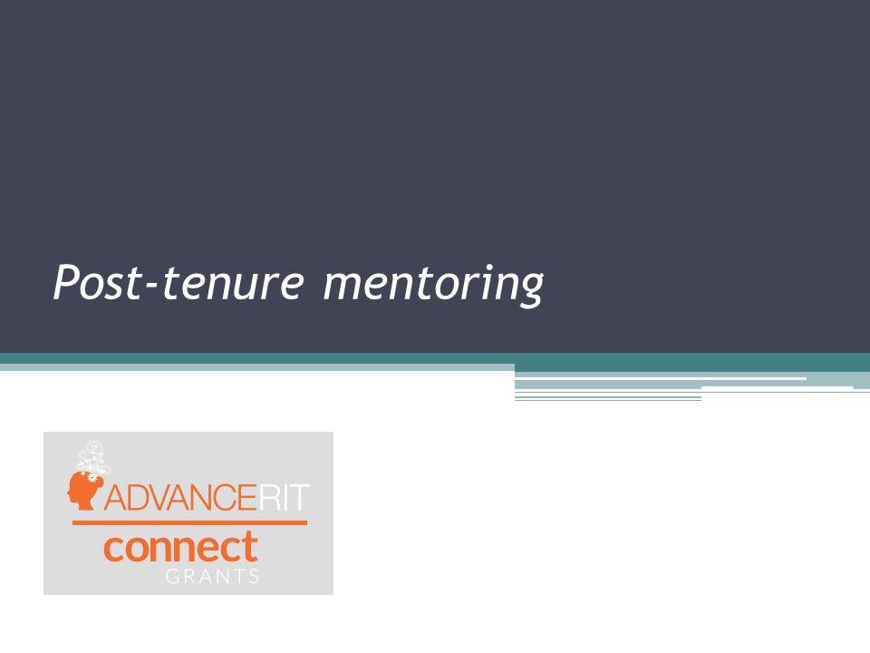 Post-tenure mentoring
